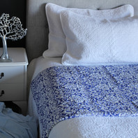 Isabella Blue Floral Bedcover/Throw