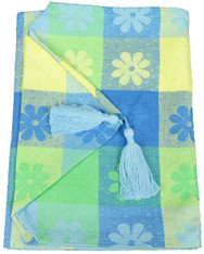 Carribean Blue Daisy Runner 33x178cm