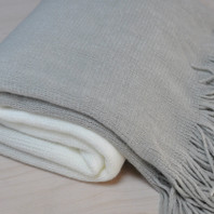 Fringe Grey Throw 150X180cm