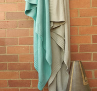 Knitted Turquoise Throw 150X180 cm