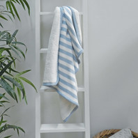 Blue Stripe Fleece Baby Blanket 75X100cm