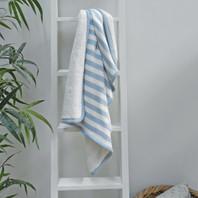 Blue Stripe Fleece Baby Blanket 75X100cm