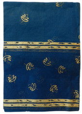 Organdy Gold Leaf/blue Table cloth