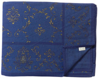 Imperial Gold on Blue Table Cloth Cotton