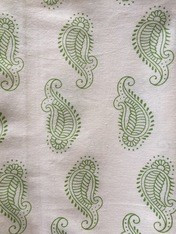 Paisley Tablecloth Green Cotton