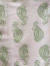 Paisley Tablecloth Green Cotton