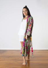 Nicola Kimono Floral Print Taupe