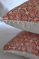 Cora Cushion Cover - Coral