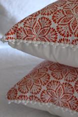 Cora Cushion Cover - Coral