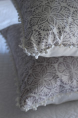 Cora Cushion Cover - Grey