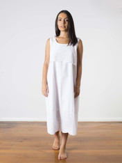 Sophia Cotton Nightdress White