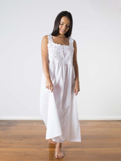 Monica Cotton Nightdress White
