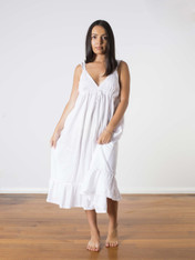 Aliza Cotton Nightdress White