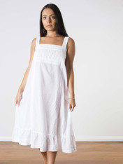 Isabella Cotton Nightdress White