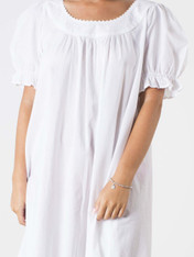 Sarah Cotton Nightdress White