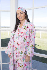 Ariana Pink Floral Dressing Gowns PACK OF 3: S,M,L