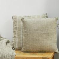 Hand Loom Linen Cushion Cover