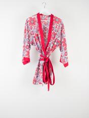 Red Chintz Short Kimono PRE-ORDER OPEN
