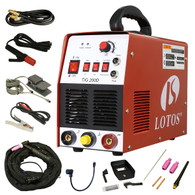 TIG/ Stick 200 Amp Welder TIG200-DC with Pedal Inverter Power Welding
