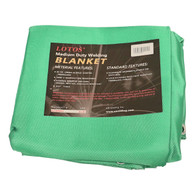 6' x 8' Acrylic Fiberglass Heat Treated Medium Duty Grommet Green Welding Blanket Resists 1000°F
