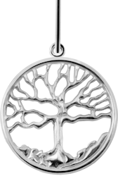 Family Tree Pendant - Sterling Silver - Large