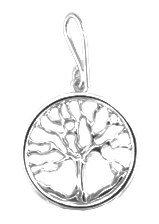 Family Tree Pendant - 14K White Gold - Small