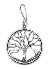 Family Tree Pendant - Sterling Silver - Small