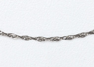 14K White Gold Cable style Chain 18 inch (0.9mm) - 23281