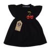 Cherry skull dress black