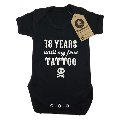 18 Years Until my First Tattoo Vest in Black
