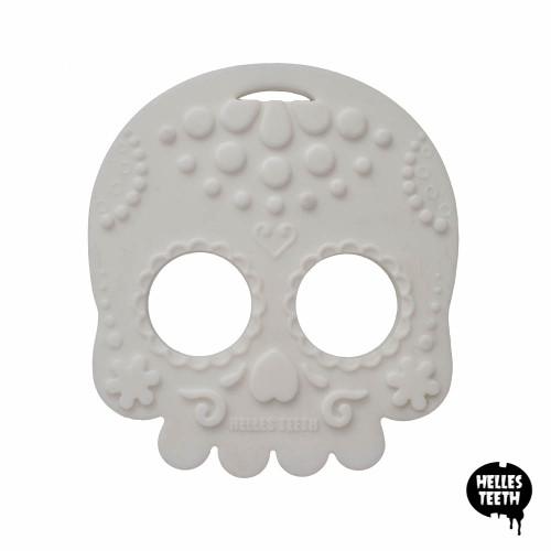 Sugar Skull Teething Toy - White