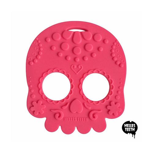 Sugar Skull Teething Toy - Pink