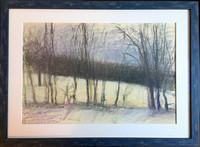 Wolf Kahn, Untitled Winter Landscape (from Allen Stone Collection), ca. 1980