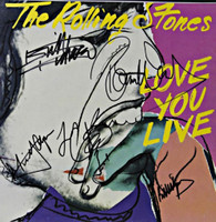 Andy Warhol Love You Live (Signed by all Five Rolling Stones), 1977