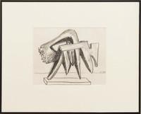 Seymour Lipton, Untitled Drawing: 1959