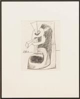 Seymour Lipton, Untitled Drawing: 1981