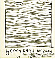 SOL LEWITT Hand Signed UNIQUE Ink Drawing, w/Autographed Inscription, 2004