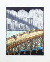 Michael Knigin, Sudden Shower (after Hiroshige), 1978