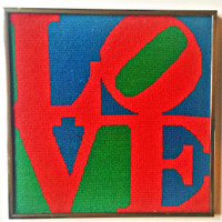 After Robert Indiana, LOVE Textile Art, ca. 1976