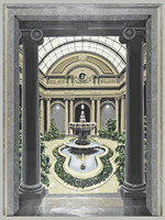 Richard Haas, Scenic Panel, Garden Court, The Frick Museum, 1977