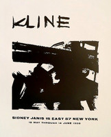 Franz Kline, Sidney Janis Gallery Poster, 1958