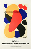 "Alexander Calder, National Emergency Civil Liberties Committee Poster (""You have not converted a man because you have silenced him""), 1973"