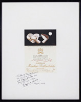 Bernard Séjourné, Chateau Mouton Rothschild Wine Label Poster (Hand signed), 1989