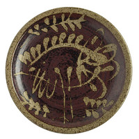 Peter Voulkos, Bird & Leaf Design Charger