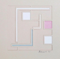 Richard Gubernick, Untitled Geometric Abstraction, 1975