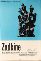 Ossip Zadkine, Tate Gallery Exhibition, 1961