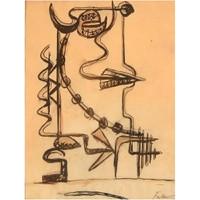 Herbert Ferber, Abstract Expressionist Sculptural Study, ca. 1960