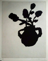 Donald Baechler, Flower Aquatint Etching, 1996