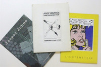 Andy Warhol, Roy Lichtenstein, Jasper Johns, Rare Set of Three Vintage Press Kits for Andy Warhol (MOMA), Roy Lichtenstein (National Gallery, LACMA & Dallas Museum) and Jasper Johns (MOMA) Exhibitions, 1989-1997