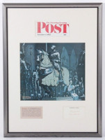 Norman Rockwell, Signed Saturday Evening Post, 1962 + Autographed Letter Framed, 1962